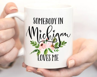 Michigan Mug,Michigan State,State Mug,Long Distance Relationship Gift,Friendship Mugs,Best Friend Gift,Moving Away Gift,Mom Long Distance