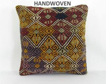 kilim pillow case turkish kilim pillow cover retro kilim bohemian throw pillow home decor nursery decor pillow 001104