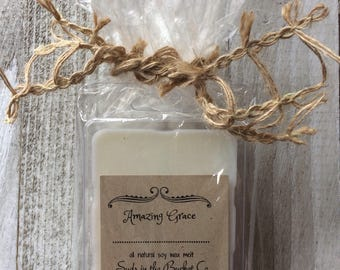 Amazing Grace Soy Wax Melts /Scented Soy Wax Melt/ Farmhouse Natural Wax Melt All Natural