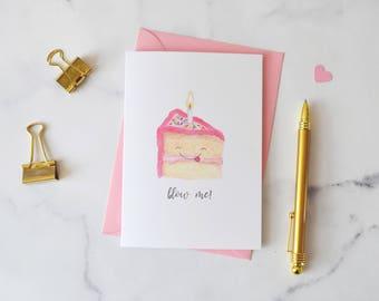 Naughty Blow Me Cake Birthday Card