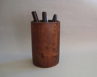 Pen holder. Pencil holder. Wooden Pencil and Pen Holder. Desk organizer
