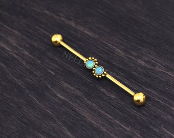 Surgical Steel Industrial Barbell - Scaffold Jewelry
