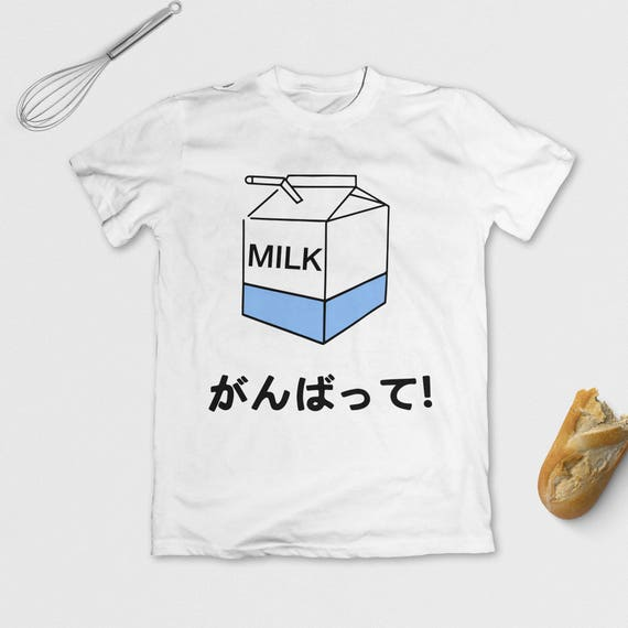 Japanese milk t shirt cute anime tee tumblr aesthetic for Cute japanese t shirts