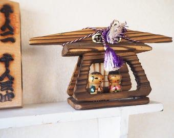 Adorable Mini Vintage Kokeshi Sculpture