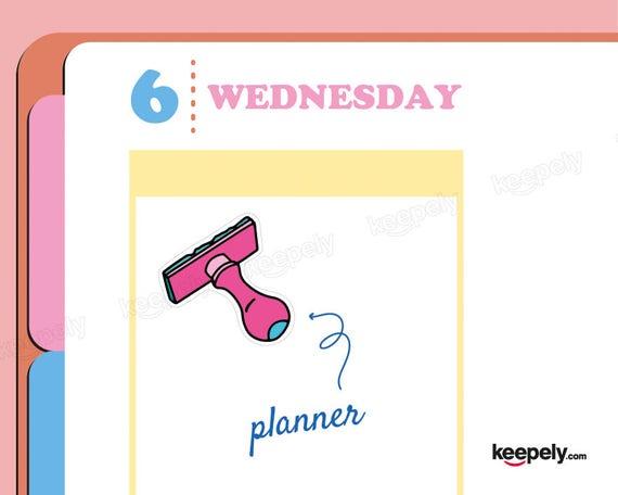Stamp Sticker Planner Hand Drawn Handmade Illustration