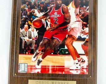 NBA Licensed Chris Webber Washington Bullets Framed 8 X 10 Photo