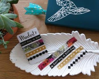 Washi Tape Sample 'Flowers' 4x 1m