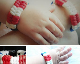 BABY!! United States Coast Guard USCG Custom Handmade Paracord Bracelet for Baby!
