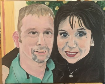 Custom Acrylic Painted Portraits