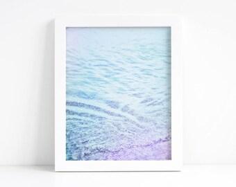 "Beach Decor Printable - Beach Photography 5""x7"", 8""x10"", 11""x14"", 16""x20"" Ocean Waves Photography - Beach Wall Art - Pastel Photography"