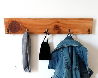 wooden coat rack modern coat rack cedar wood shelf with hooks rustic entryway - Modern Coat Rack