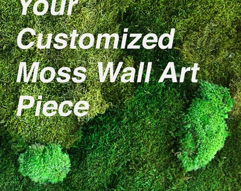 Your Customized Moss Wall Art. Natural Home Decor.Preserved Moss and Plants. Moss Art. Green Art. Eco Decor. Natural Plant Deco.Plant Decor.