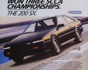 1986 Nissan 200SX Vintage Magazine Advert