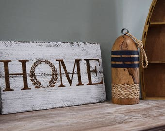 Engraved Pallet Wood Sign- Home Wreath | Gift | Rustic | Distressed | Housewarming | Laser | Recycled | Sustainable | Eco Friendly