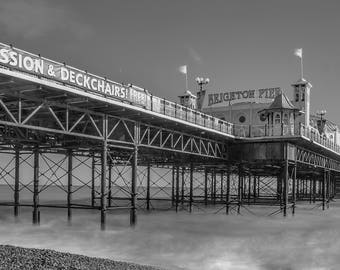 Brighton Pier, Uk, Long Exposure, Travel, Brighton Beach, Fine Art photography, Black and White Photography