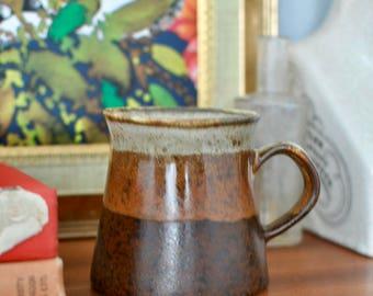 Vintage Retro Earthernware Small Pottery Jug, Rustic Jug, Milk Jug, Milk Pourer, Sauce Jug, Gravy jug, Stoneware, Pottery