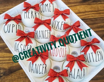 Reindeer Ornament Set with Bows