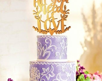 All You Need Is Love Cake Topper, All You Need Is Love, Beatles Cake Topper, Beatles Topper, All You Need Is Love Wedding Cake Topper
