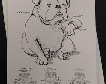 Dog Watch Greeting Card