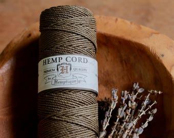 Hemp Cord Dusty Olive