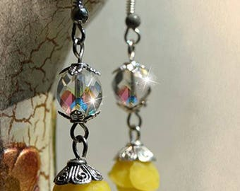 Crystal Rose earrings