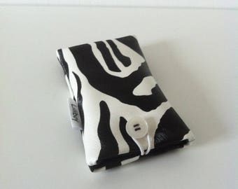 "phone case / sunglasses ""Zebra"" leatherette imitation Zebra"
