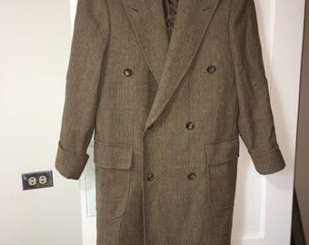 Brooks Brothers Brown Herringbone Trench Coat