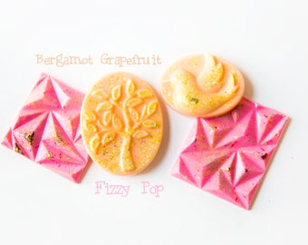 Bergamot Grapefruit Wax Melts | Fizzy Pop | Wax Melts (5.5 Oz.) - Wax Melts - Handamde Wax Melts - Hand Poured Wax - Wax Tarts - Scented Wax