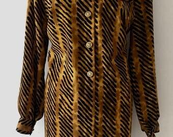 Vintage 1980's oversized shirt dress