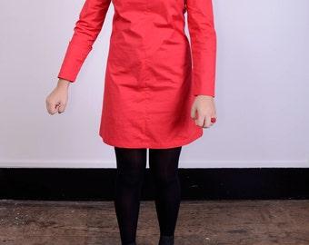 Empress red vintage inspired shift dress