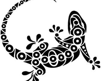 Tribal Lizard Vinyl Decal - Donation to Wildlife Conservancy