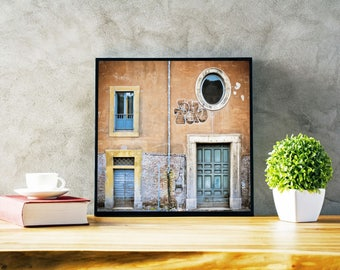 Original Fine Art Photo Print - Roma - Windows - Color