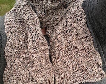 Wool scarf, hand knitted scarf, winter scarf, warm scarf, chunky scarves, long scarf, winter accessories