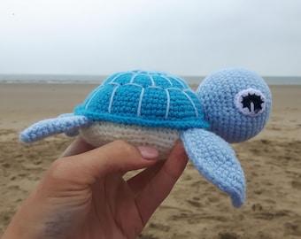 Amigurumi Turtle, Stuffed Animal, Soft Toy, Sea Turtle, Handmade Crotchet Toy, Sea Creature, Turtle