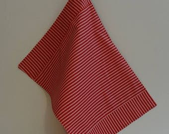 Red stripes cotton Placemats