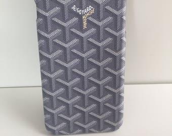 Goyard iPhone 7 Plus case in Grey