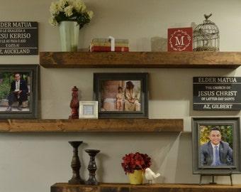 "Rustic Floating Shelves, Farmhouse Shelf,  Farmhouse decor, Chunky Shelf, Floating Shelf 48"" Self"