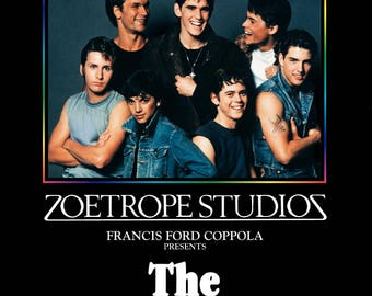 The Outsiders movie poster A4 size