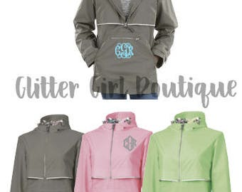 Charles River New Englander Pullover *BRAND NEW* | Monogrammed Rain Jacket | Charles River Rain Jacket | Rain Jackets for Her | Personalized