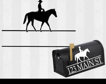 Cowboy Mailbox Monogram Svg, Country Mailbox Monogram Frame Svg, horse, Mail Box Decal svg, Svg, Eps, Dxf, SVG files for Cricut & Silhouette