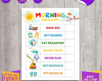 childrens morning routine chart: Morning routine etsy