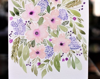 Watercolor Floral Bunch