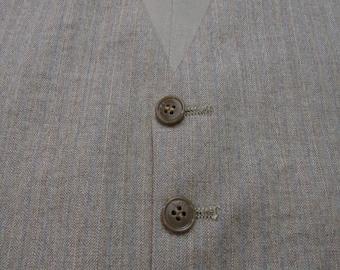 Vintage Wool Tweed Herringbone Vest ~ size 36 R ~ waistcoat ~ WEDDING ~