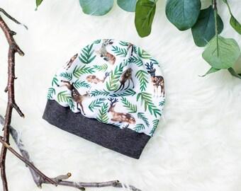 Baby Beanie Hat Ökotex organic Jersey * woodland Brown *.