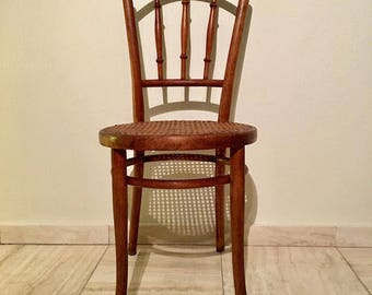 Authentic Thonet chair. One of the last examples made in Austria by Thonet brothers!