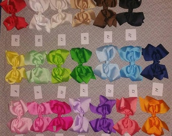 6 inch Grosgrain Ribbon Bow on Alligator Clip  infant/baby/toddler/girl 20 colors