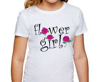 Flower Girl Tee for that special lady in the Wedding Party