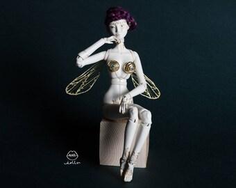 Bee Fairy OOAK BJD Porcelain Doll