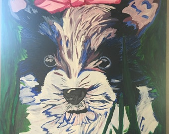 Dog Painting in Cool or Warm Colors