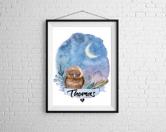 Personalized OWL poster